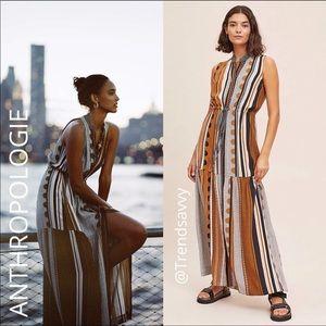 NWT ANTHROPOLOGIE Maeve Alondra Stripe Maxi Dress